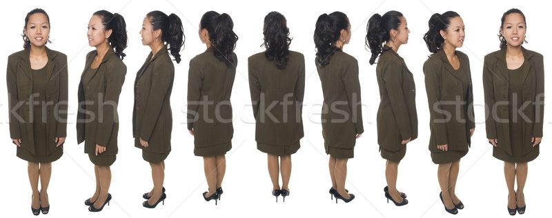 Mujer de negocios sonriendo aislado Foto stock © dgilder