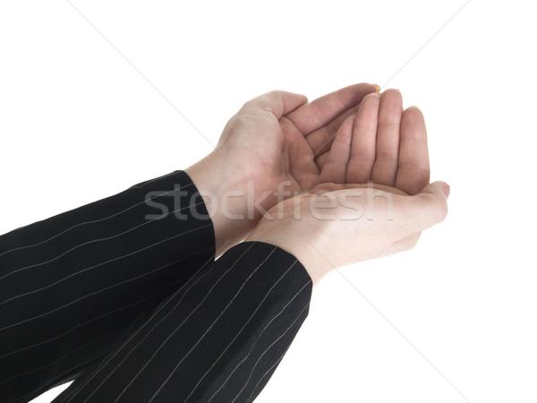 Empresária mãos ângulo isolado quadro Foto stock © dgilder