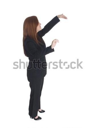 Empresária dança pose isolado alguém Foto stock © dgilder