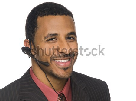 businessman - telephone operator Stock photo © dgilder