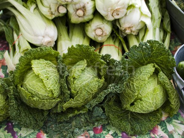 Stockfoto: Produceren · organisch · kool · display · boeren · markt