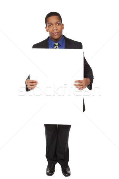 businessman - blank sign Stock photo © dgilder
