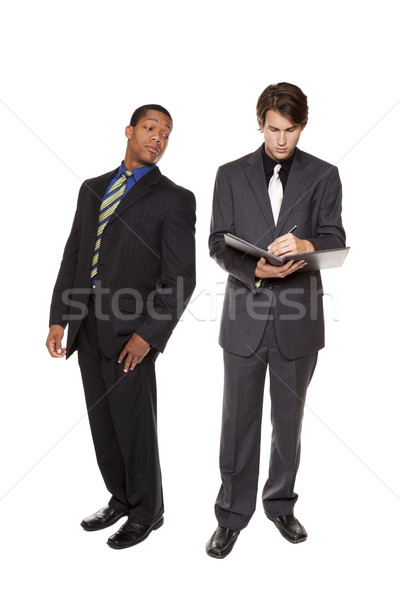 businesspeople - corporate espionage Stock photo © dgilder