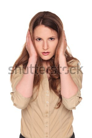 Stock photo: businesswoman - Hear No Evil