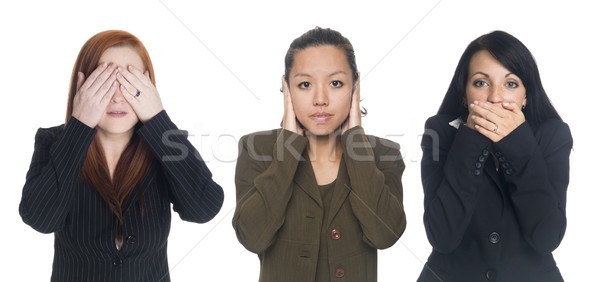 Stock photo: businesswomen - no evil