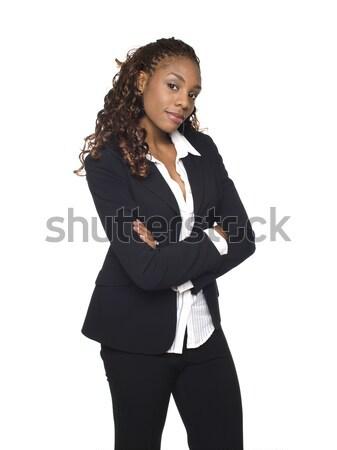деловая женщина изолированный глядя камеры Сток-фото © dgilder