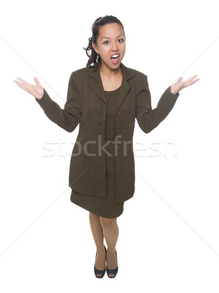 businesswoman - disbelief Stock photo © dgilder