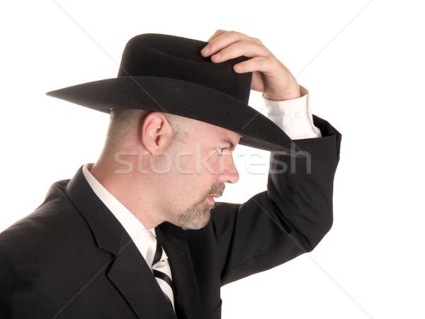Cowboy üzletember stock fotó jólöltözött visel Stock fotó © dgilder