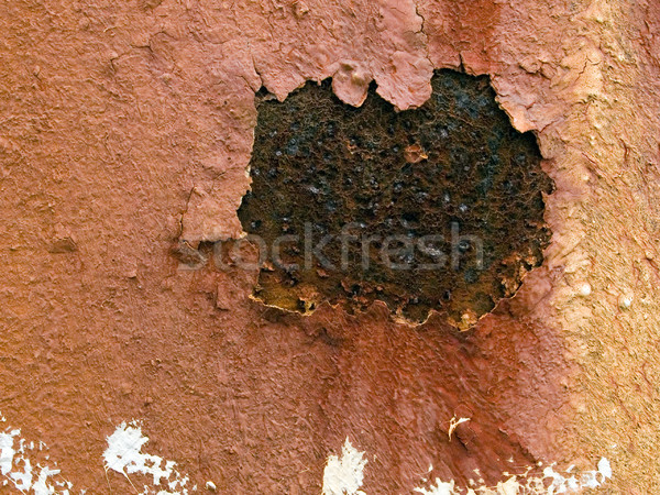 macro texture - metal - rusty metal and peeling paint Stock photo © dgilder