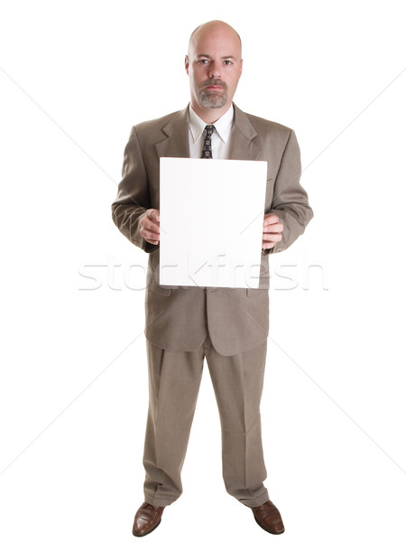 businessman with blank sign Stock photo © dgilder