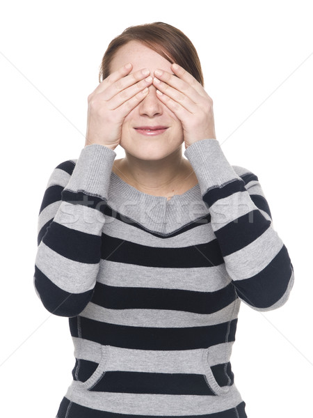 casual woman - see no evil Stock photo © dgilder