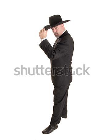 cowboy businessman tipping hat Stock photo © dgilder