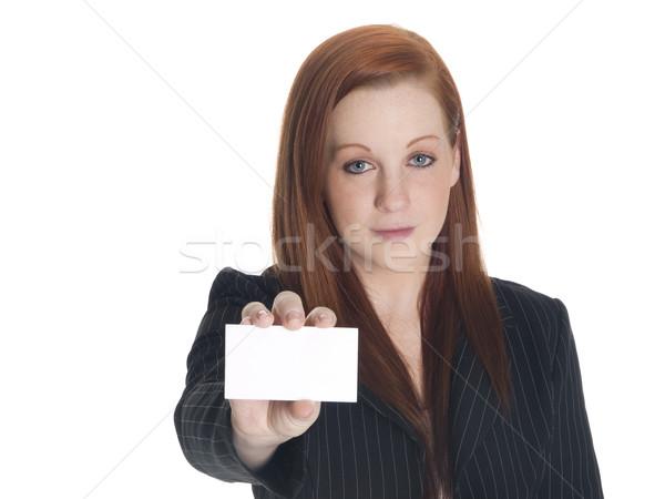 Empresária cartão de visita isolado Foto stock © dgilder