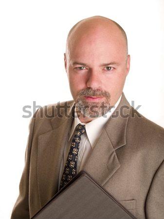 Moda erkekler işadamı defter stok Stok fotoğraf © dgilder