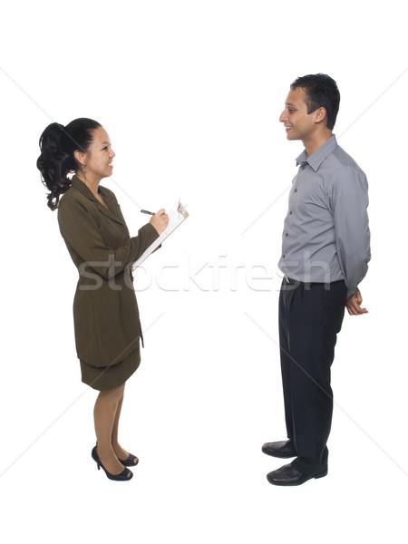 Gens d'affaires entrevue questionnaire isolé affaires Photo stock © dgilder