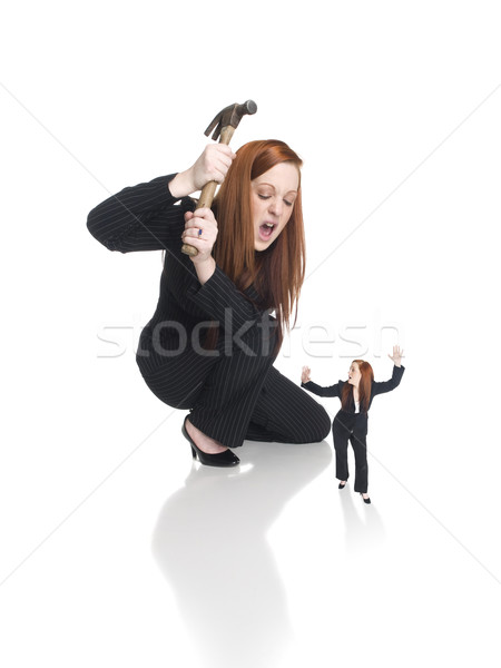 businesswoman - self defeat Stock photo © dgilder