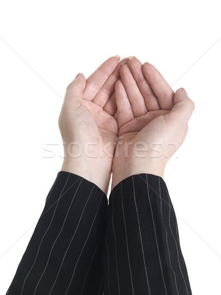 Empresária mãos isolado Foto stock © dgilder