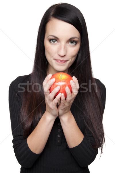 ストックフォト: 作り出す · フルーツ · 女性 · リンゴ · 孤立した