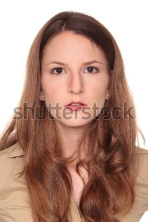 Kobieta interesu odizolowany patrząc Zdjęcia stock © dgilder