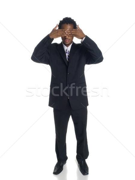 Empresário cego isolado ver não Foto stock © dgilder
