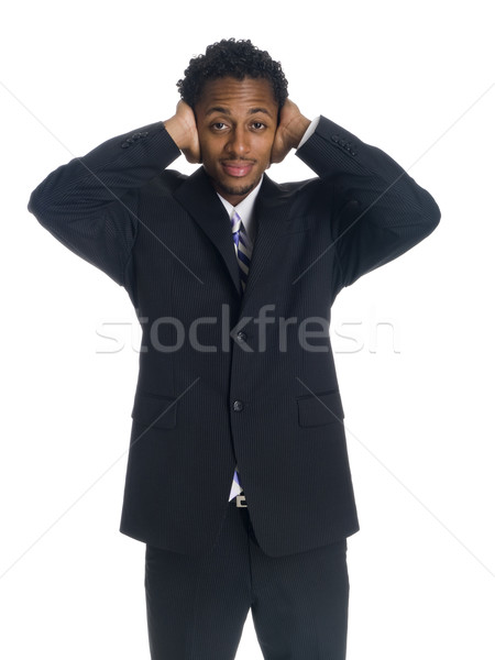 businessman - deaf Stock photo © dgilder