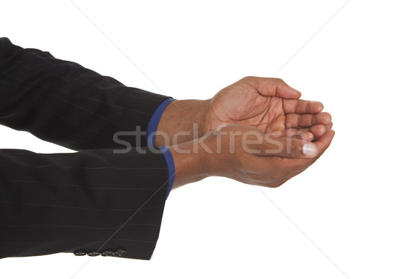 man - cupped hands Stock photo © dgilder