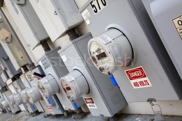 Industrial poder parede completo elétrico Foto stock © dgilder