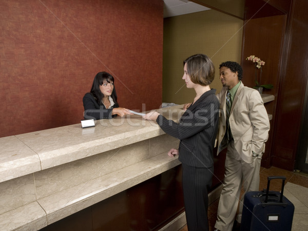 hotel - business travelers Stock photo © dgilder
