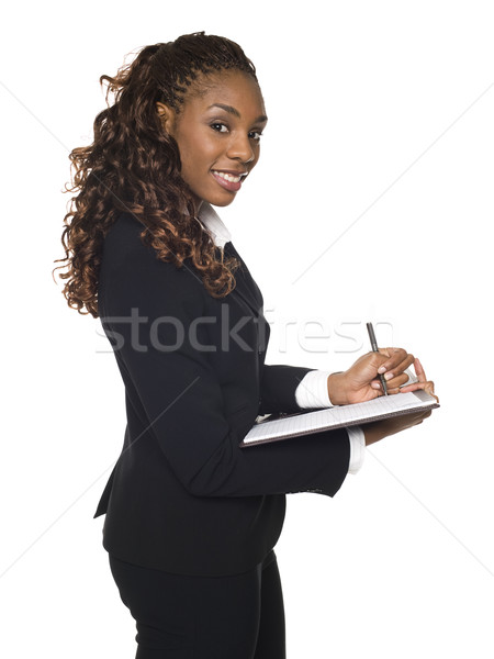 Businesswoman - taking notes Stock photo © dgilder