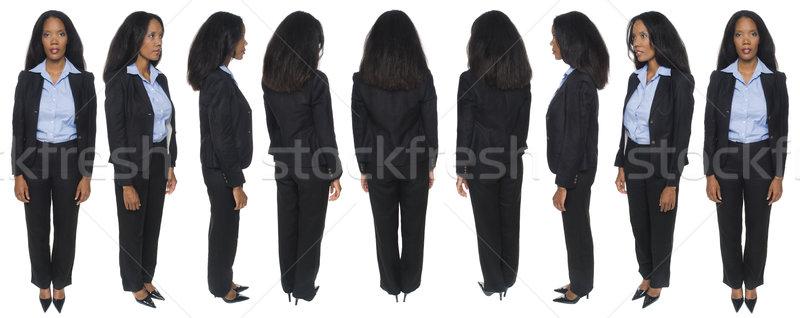 businesswoman - front views Stock photo © dgilder