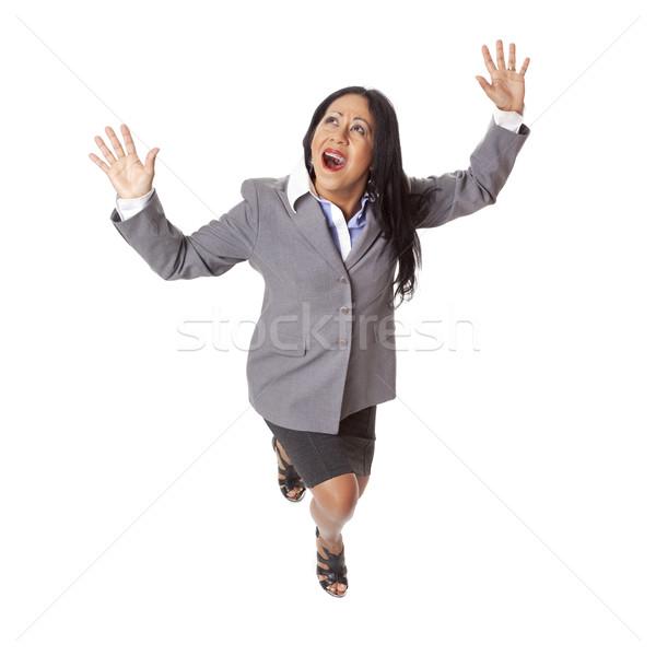 Businesswoman - Latina in Peril Stock photo © dgilder