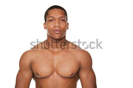 strong muscular man Stock photo © dgilder