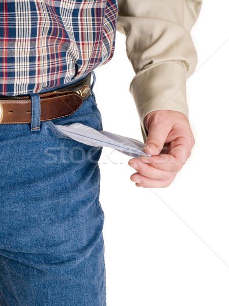Handen cowboy voorraad foto hand Stockfoto © dgilder