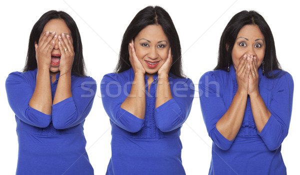 Casual Latina - No Evil Poses Stock photo © dgilder
