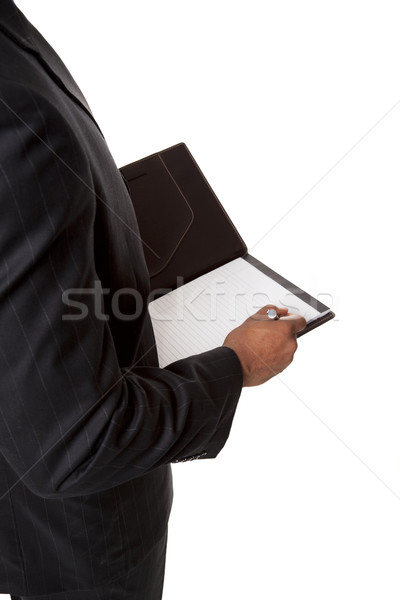 businessman - taking notes Stock photo © dgilder