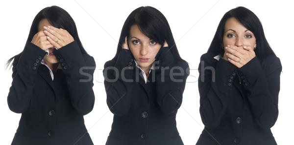businesswoman - no evil Stock photo © dgilder