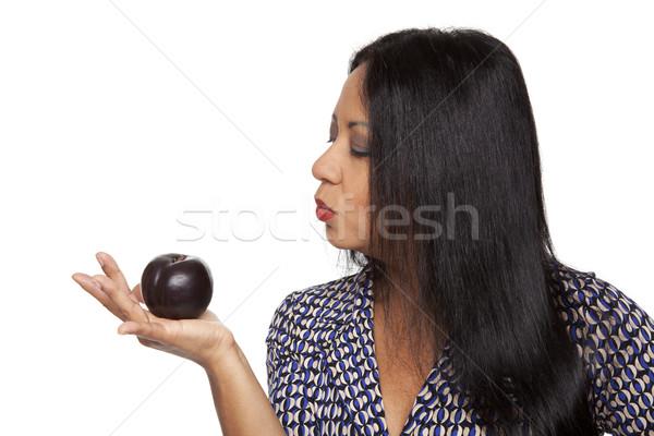 случайный производить слива изолированный женщину Сток-фото © dgilder
