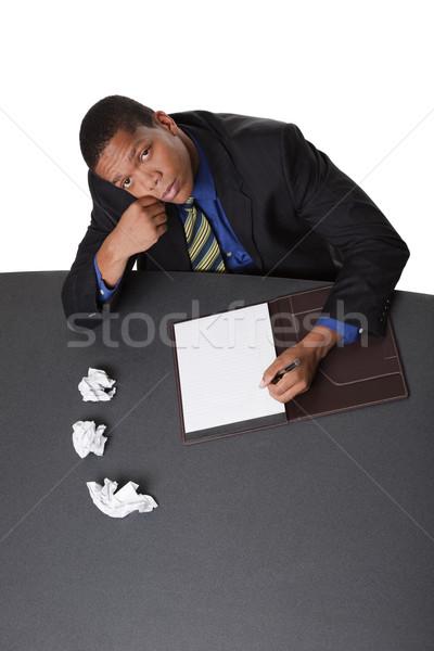 businessman - writers block Stock photo © dgilder