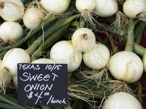 Produkować organiczny cebule Texas Widok Zdjęcia stock © dgilder