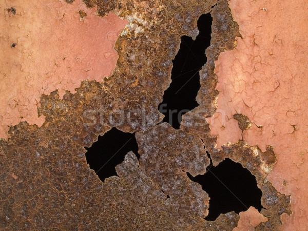 macro texture - metal - rusty metal and peeling paint Stock photo © dgilder