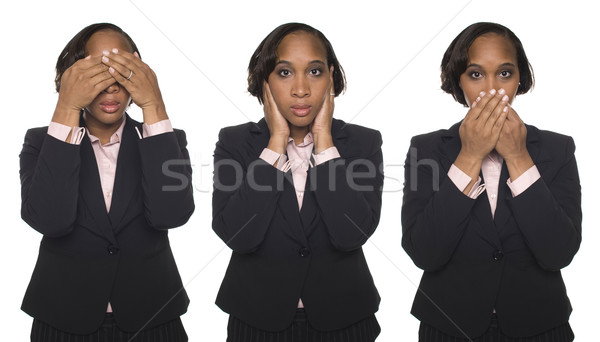 Businesswoman - No Evil Stock photo © dgilder