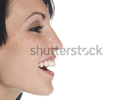 businesswoman - side laugh Stock photo © dgilder