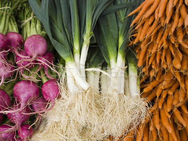 produce - organic vegetables background Stock photo © dgilder