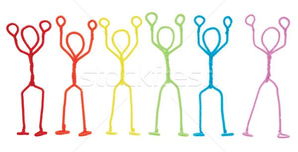 Bot karok a magasban izolált szivárvány színes cső Stock fotó © dgilder