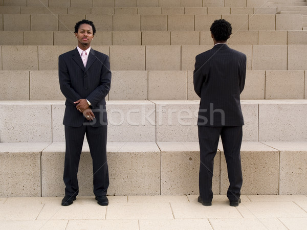 businessman duality Stock photo © dgilder