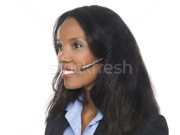businesswoman - telephone operator Stock photo © dgilder