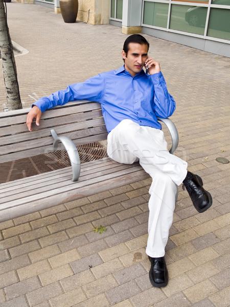 Сток-фото: Hispanic · бизнесмен · говорить · телефон · красивый