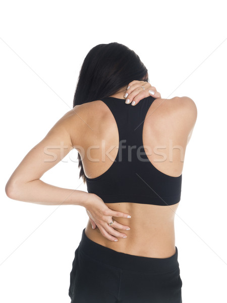 woman - neck and back pain Stock photo © dgilder