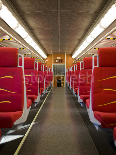 commuter train - empty passenger car Stock photo © dgilder