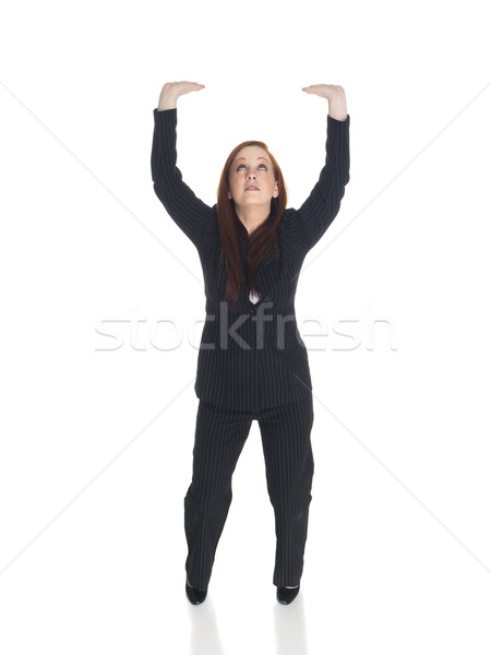 businesswoman - arms raised Stock photo © dgilder